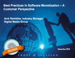Customer centric view of best practices in software monetization