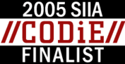 CODiE-Logo Finalist 2005, Wibu-Systems, Best Digital Rights Management Solution: Software