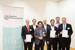 Bild zeigt Gewinner des deutschen IT-Sicherheitspreises 2014