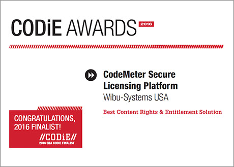 CODiE Finalist 2016 for Best Content Rights & Entitlement Solution